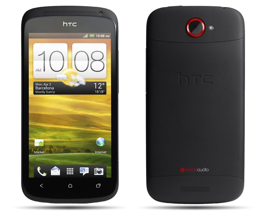 HTC One S Front and Back view