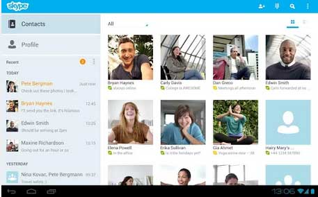 skype updated version to android 4.4 kitkat