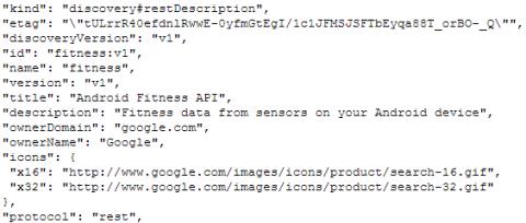 Google Fitness API testing