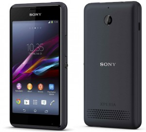 Sony introduced the smartphone Xperia E1