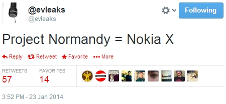 nokia normandy x android
