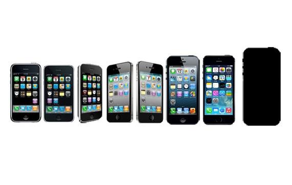 iPhones line up