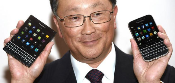 Blackberry CEO with Passport