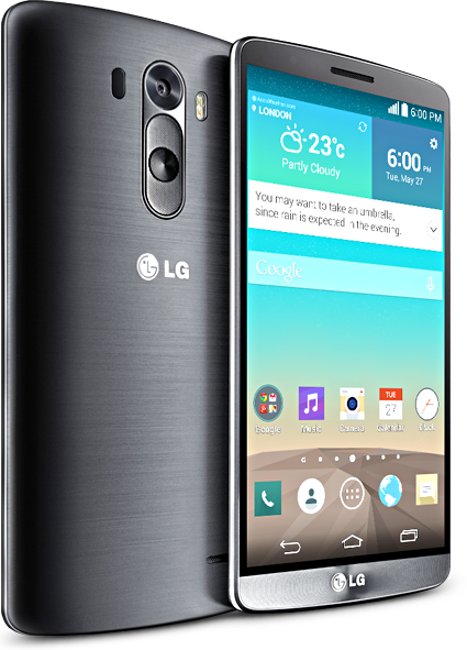 LG G3 Front and back