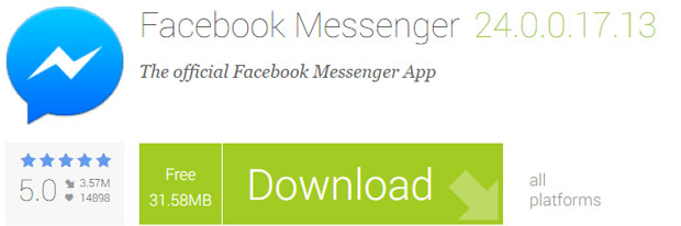 official Facebook Messenger App