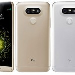 LG G5 smartphones front and back pics