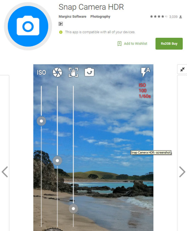 Snap Camera HDR android app for photography