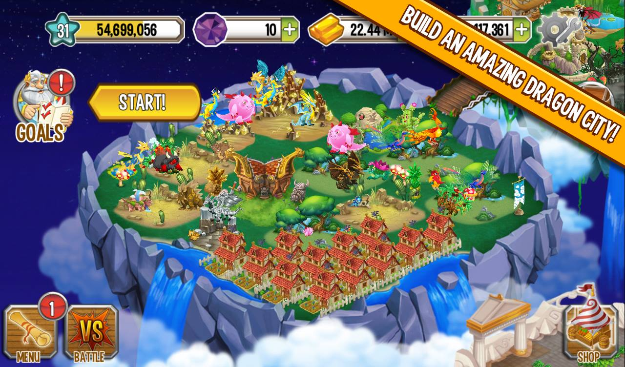 Download Dragon City Mod APK Unlimited Gems And Gold For Android